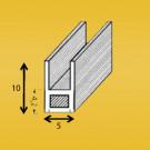 Loodprofiel U10mm (met staalkern)